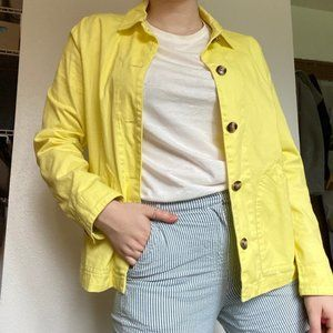 a.n.a. Yellow Button-up Jacket w/ Pockets